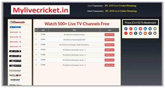 IPL on my live cricket