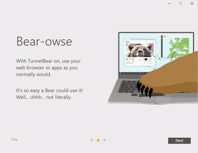 TunnelBear for Windows