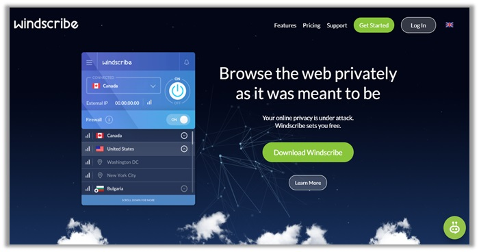 Windscribe for Firefox