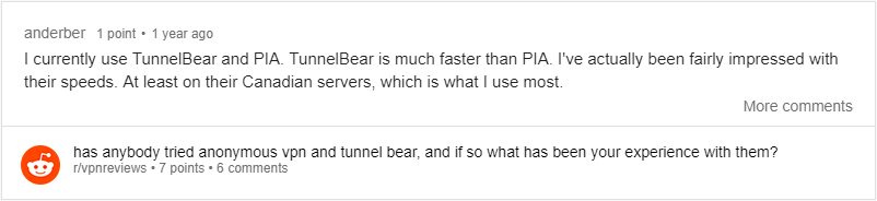 tunnelbear review reddit