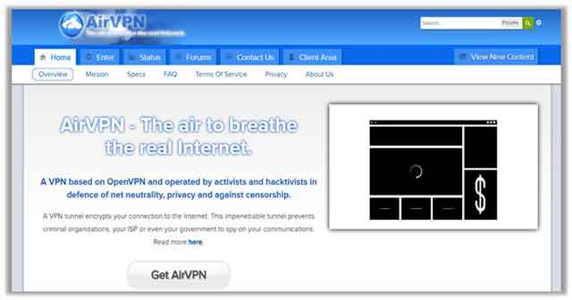 AirVPN Monthly Package