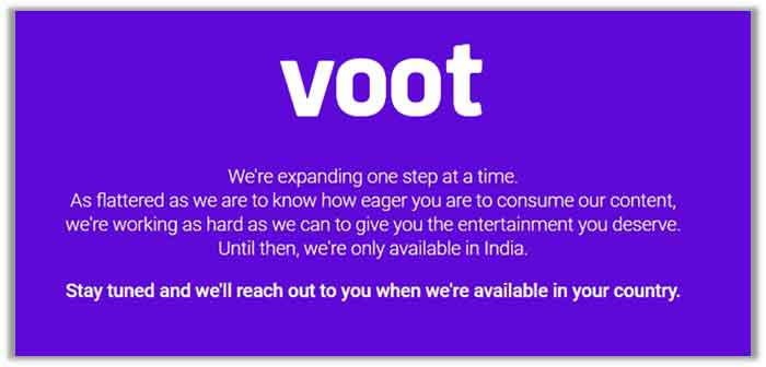 Why Voot Blocks Users from Outside India