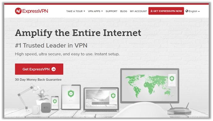 ExpressVPN Website Screenshot