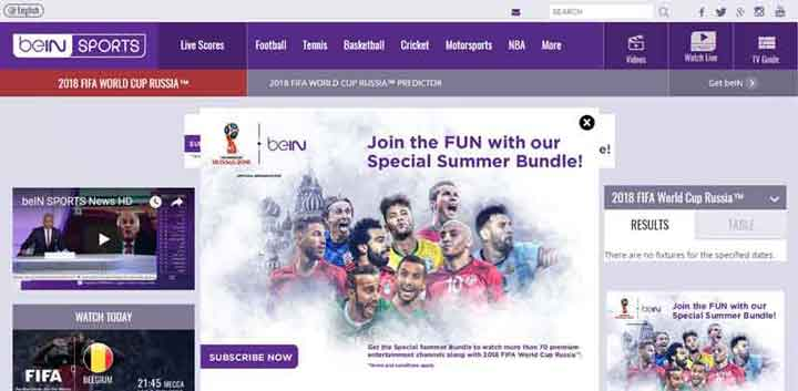 beIN Sports for Fifa World Cup 2018