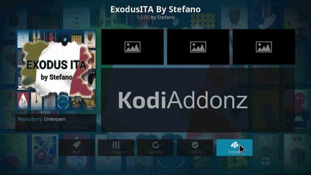 ExodusITA kodi addon