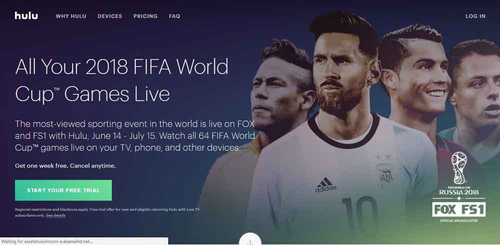 Hulu World Cup 2018 - How to Watch Fifa Football Matches on All Hulu