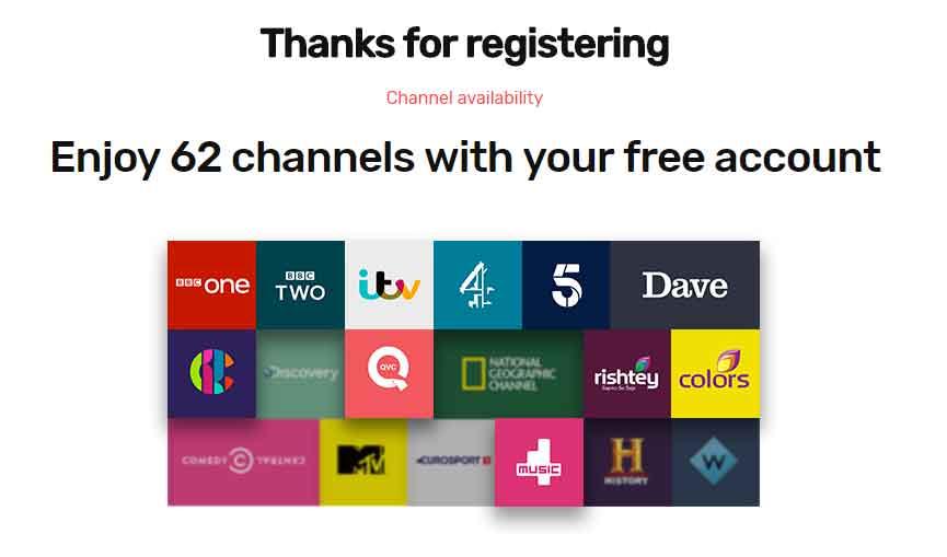 tvplayer uk channels