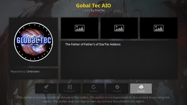 Global Tec AIz kodi addon