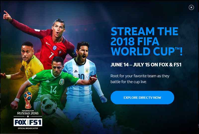 How to Watch Fifa World Cup 2018 on Apple TV Using DirecTV Now