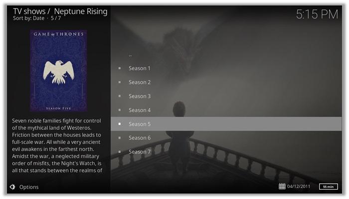 Neptune Rising for Game of thrones