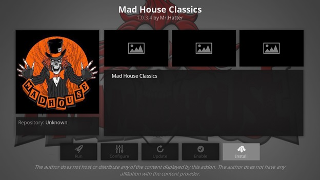 Mad House Classics kodi addon