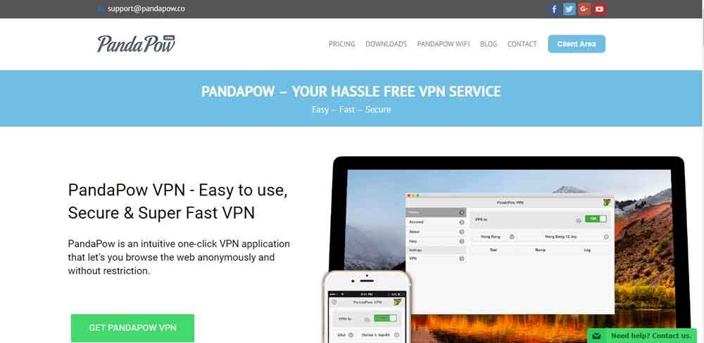Pandapow-HomePage