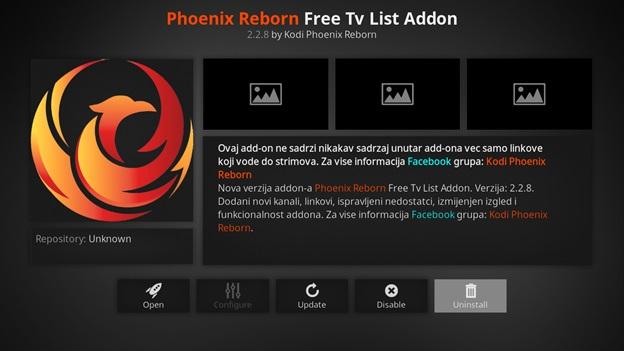 Phoenix Reborn IPTV kodi addon
