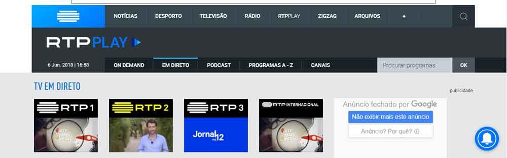 FIFA World Cup in Brazil via RTP1