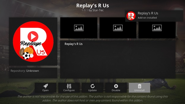 Replays R Us kodi addon