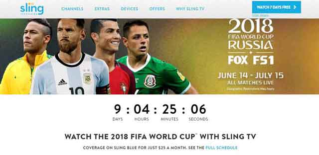 SlingTV for fifa world cup usa viewers