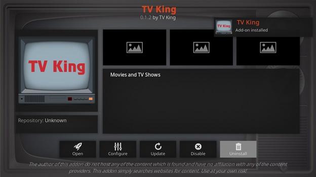 TV King kodi addon