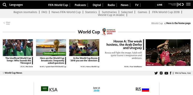 Watch FIFA World Cup 2018 on Kan.org