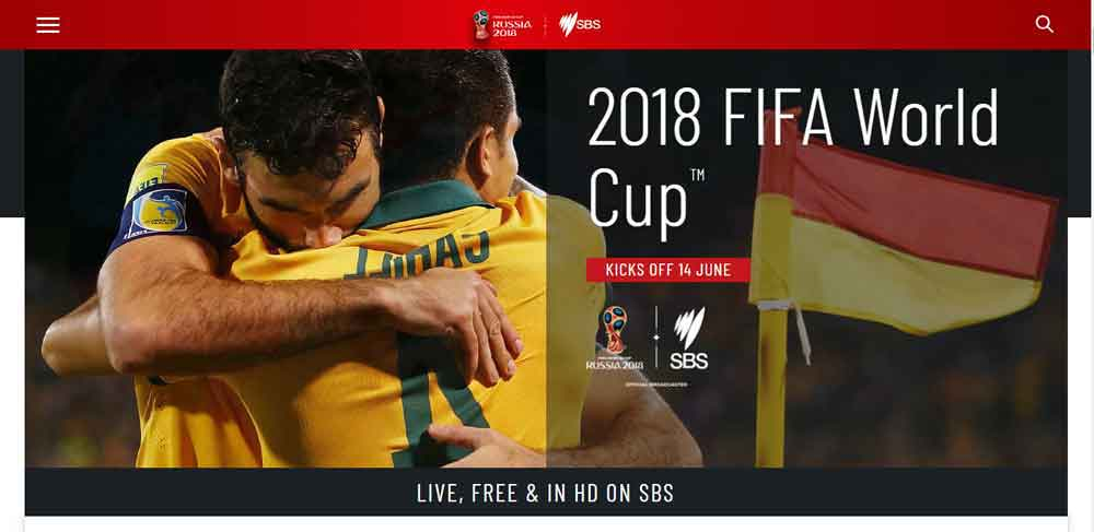 How to watch Fifa World Cup 2018 in Australia With SBS Cable TV