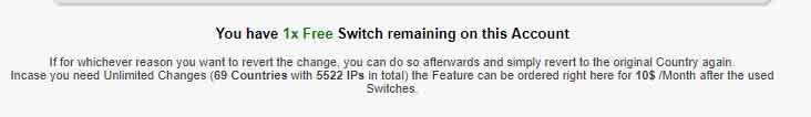 NVPN server switch