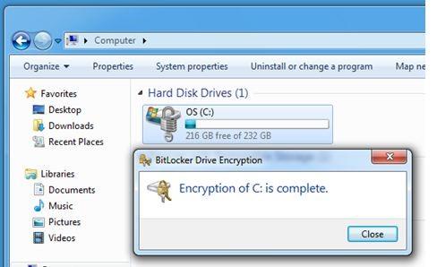encrypton of my computer