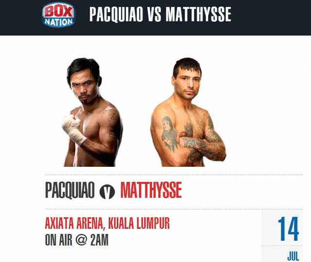 Pacquiao vs Matthysse on Box Nation