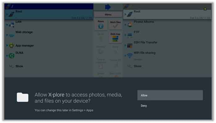 Grant Access to your files on X-Plore File Manager