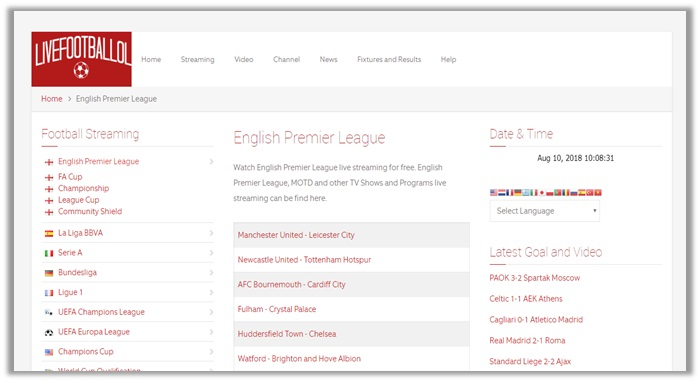 epl on Livefootballlol