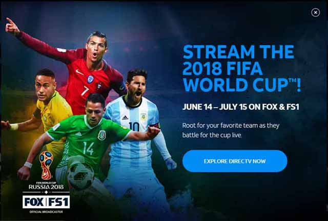 FIFA World Cup Finals on DirecTV Now