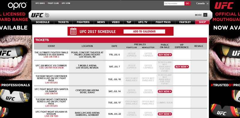 UFC 226 Tickets on Sale