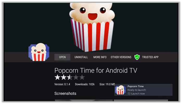 Popcorn time android tv vpn