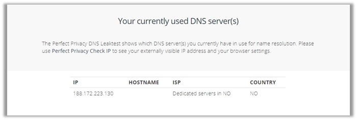 Buffered VPN DNS Leak TEst