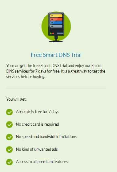 Free SmartDNS 7 Day Trial