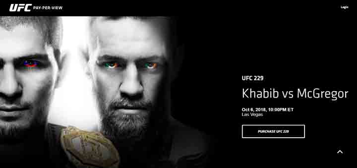 Mcgregor vs Khabib Fight Location and Date