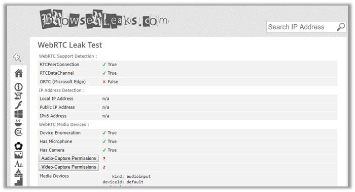 NordVPN WebRTC Leak Test