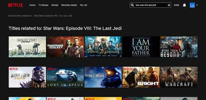 Star Wars The Last Jedi not Available