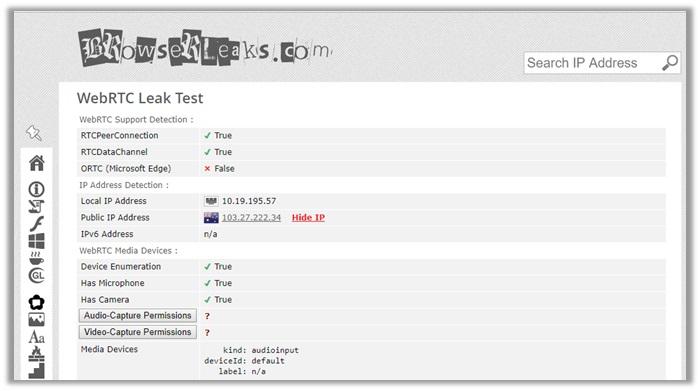 vyprvpn webrtc leak test