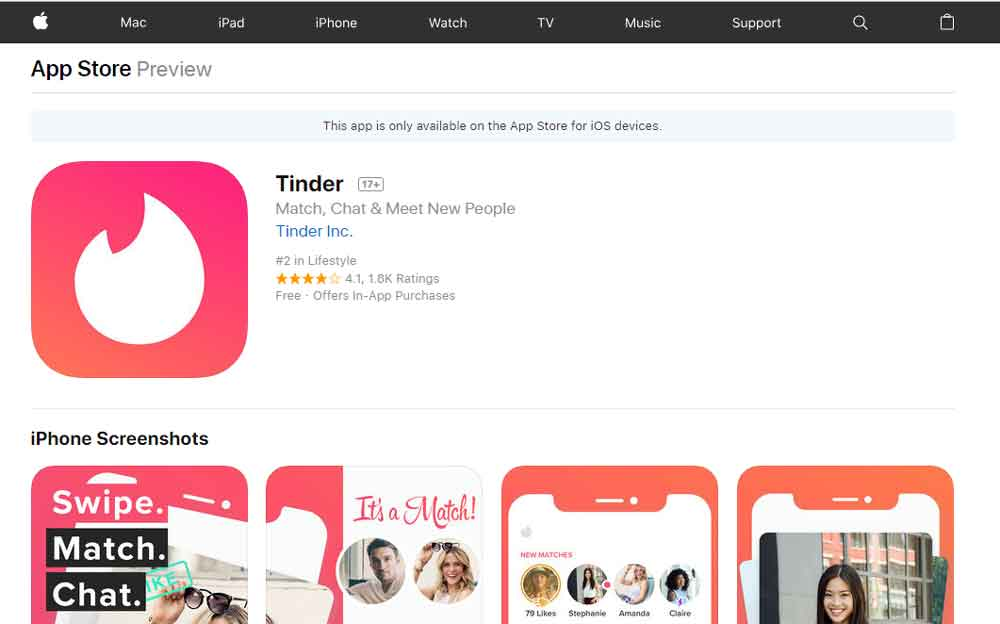 tinder download without app store