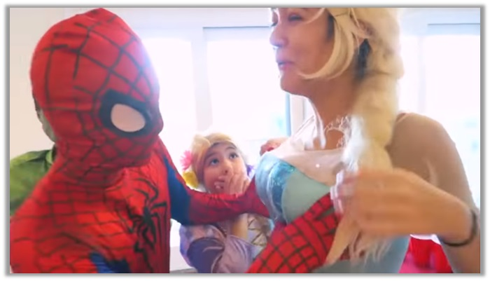 Spiderman and elsa Straight Up Pornography