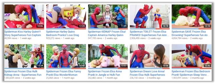 spiderman and elsa bad videos