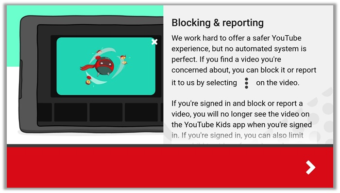 YouTube Kids Blocking and Reporting