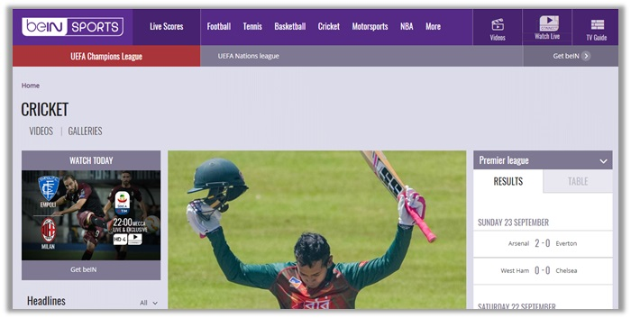 asia cup final 2018 on beIN Sports