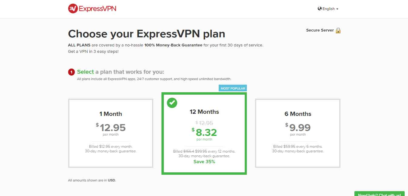 ExpressVPN pricing for venezuela