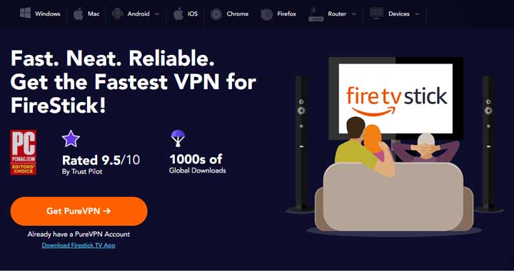 Firestick support PureVPN