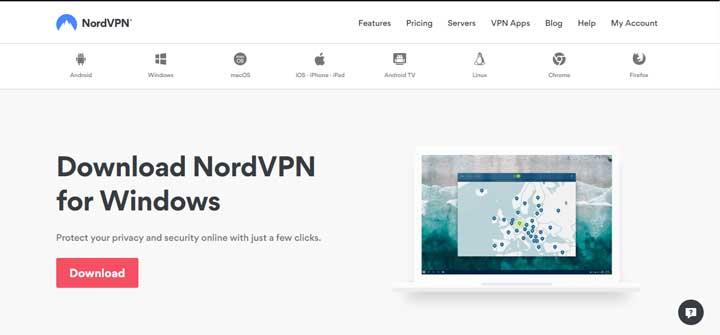 NordVPN client apps