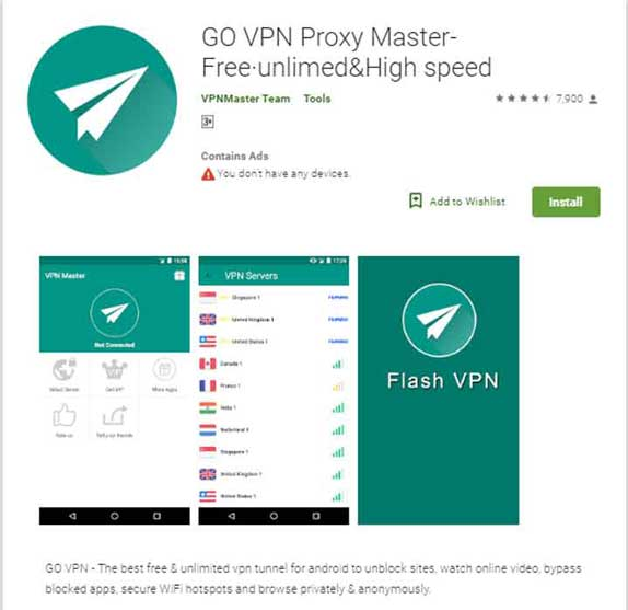 GOVPN on Android