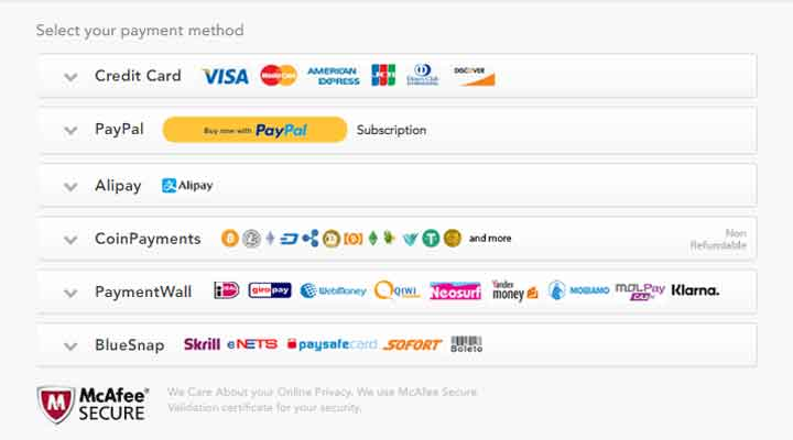 PureVPN payment methods for netflix