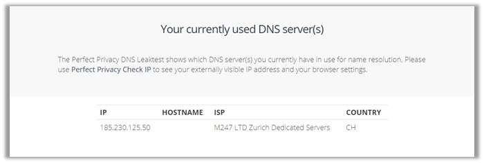 zenmate dns leak test