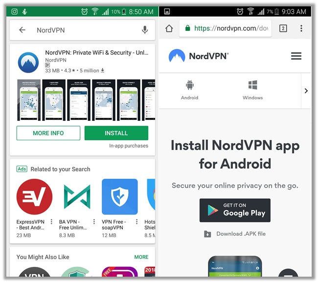 NordVPN Android Download