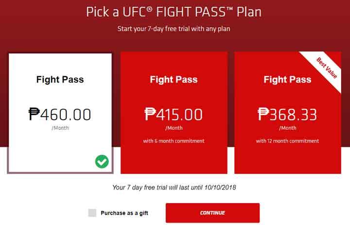 UFC Philippines fight pass